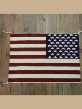 Navajo American Flag Rug By Joanne Begaye