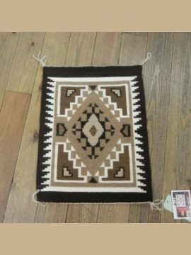 Navajo Two Grey Hills Small Rug by Albert Jim