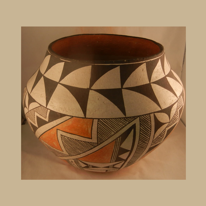 Acoma 1950s Traditional Jar Unknown Artist