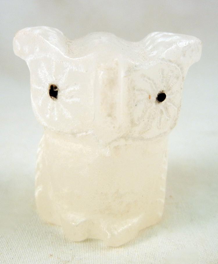 Zuni Roselle Shack Gonzales Ice Alabaster Owl Fetish