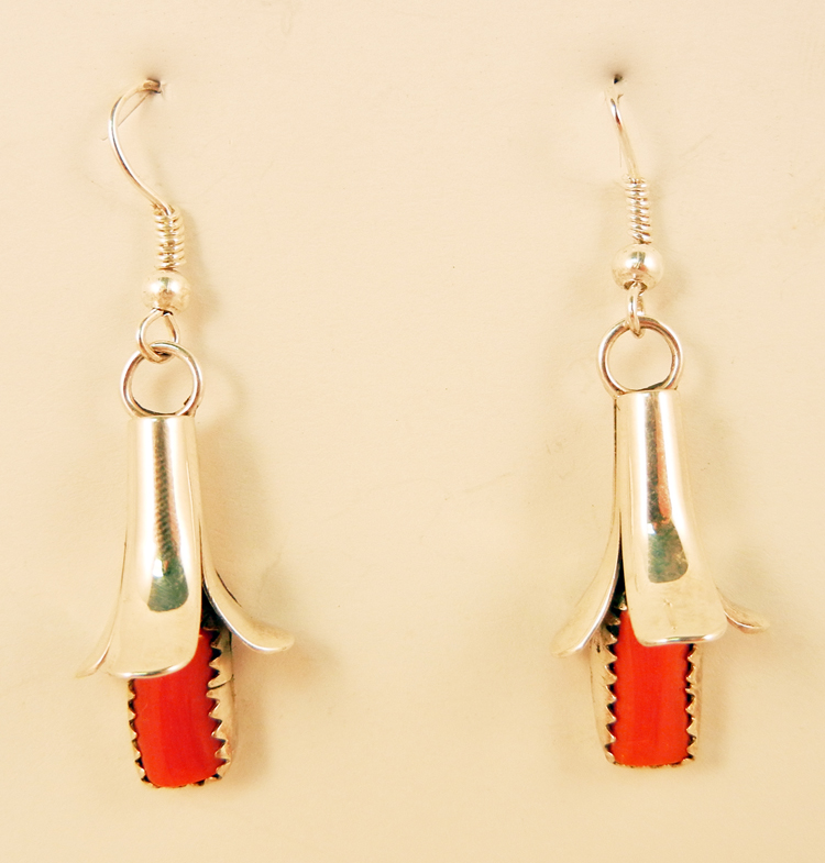native-american-indian-jewelry-navajo-earrings-coral-sterling-silver-squash-blossoms