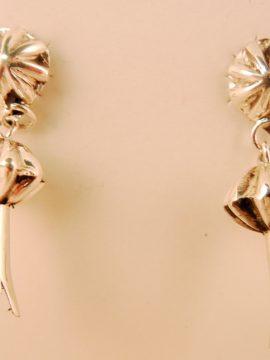 Navajo Sterling Silver Squash Blossom Earrings