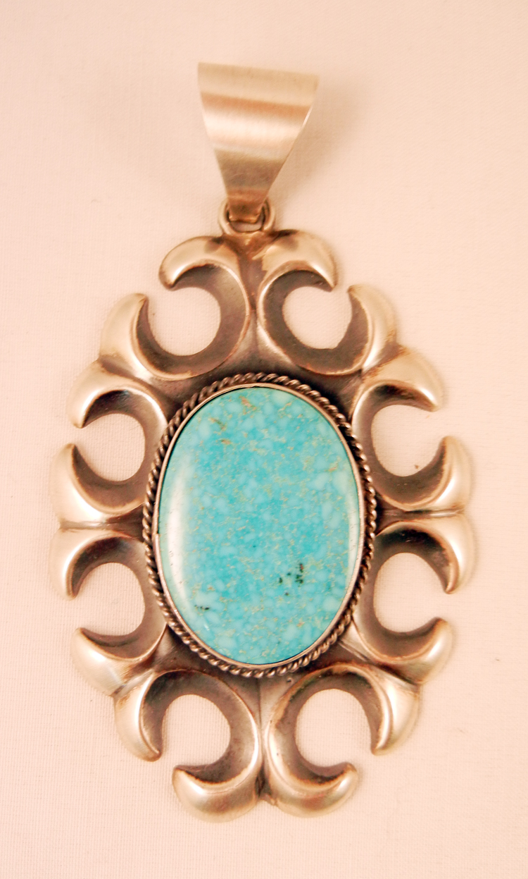 native-american-indian-jewelry-navajo-pendant-turquoise-sterling-silver-sandcast-harrison-bitsue (1)