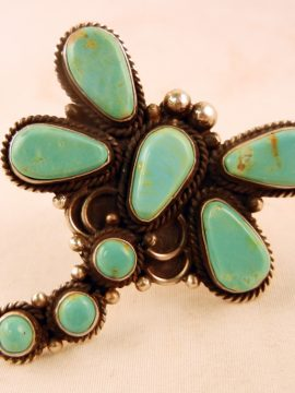 Navajo Turquoise and Sterling Silver Dragonfly Ring