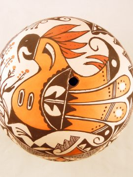 Acoma Roberta Trujillo Parrot Design Seed Pot
