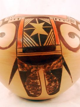 Hopi Chereen Nampeyo Tail Feather Design Jar