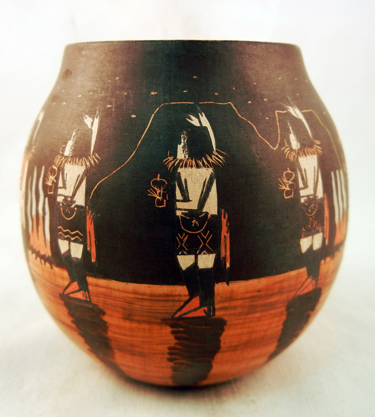 Navajo Ida Sahmie Small Night Dance Pot