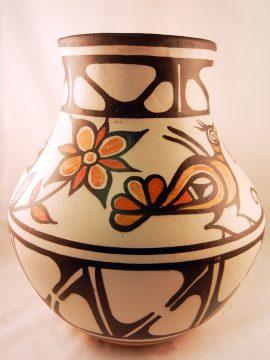 Santo Domingo Rose Pacheco Large Bird Jar