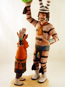 Hopi Andrew L. Sahmie Sr. Mudhead and Clown Kachina