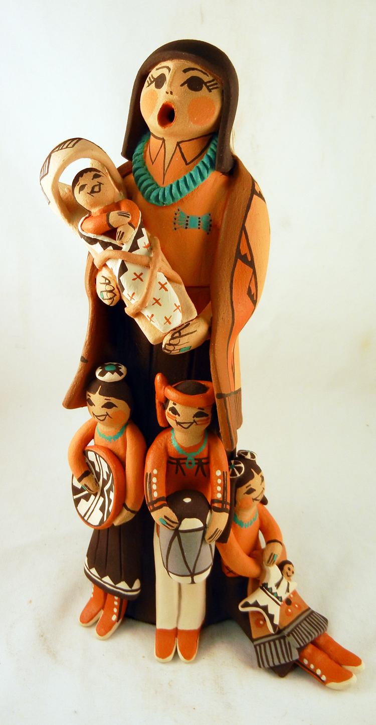 Jemez Carol Lucero Gachupin Standing Storyteller Family