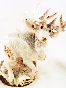 Zuni Elton Kamasee Elk Antler Deer Fetish