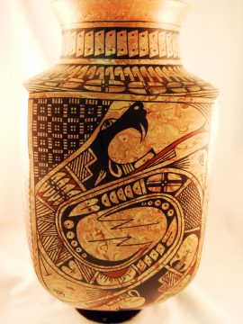 Mata Ortiz Paty Ortiz Mixed Clay Serpent Vase
