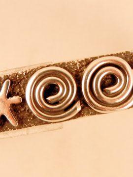 Navajo Alex Sanchez Sterling Silver Petroglyph Style Cuff Bracelet