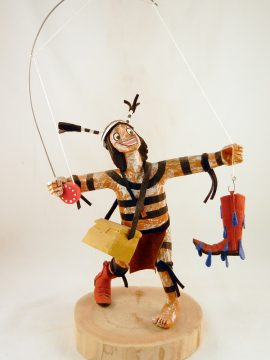 Navajo Bertha Wood Fisherman Koshare Kachina