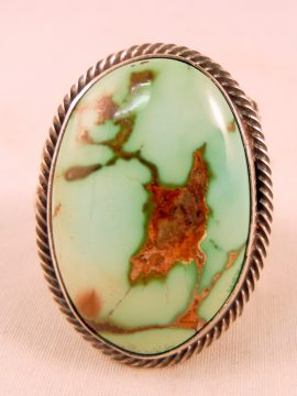 Navajo Will Denetdale Royston Turquoise and Sterling Silver Ring