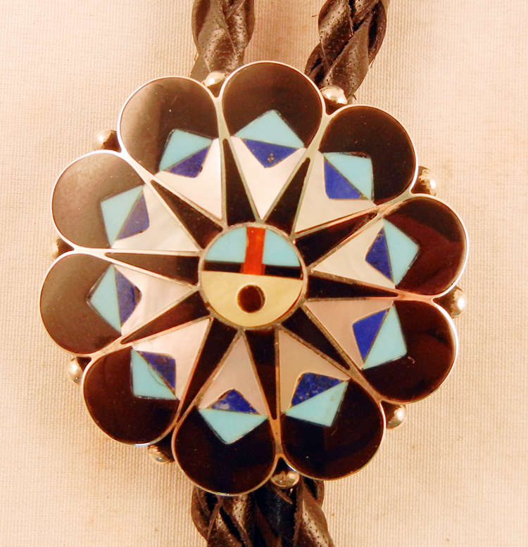 native-american-indian-jewelry-zuni-bolo-tie-multi-stone-inlay-sterling-silver-sunface (2)