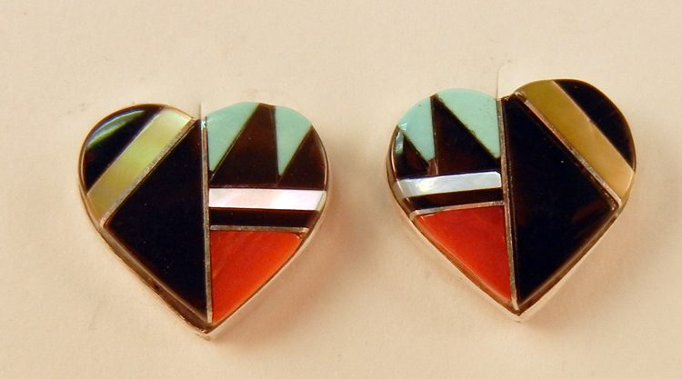 native-american-indian-jewelry-zuni-earrings-multi-stone-inlay-hearts