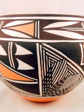 Acoma Marilyn Ray Small Pottery Bowl