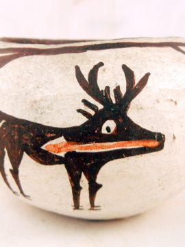 Zuni CA. 1920's Deer Bowl by Unknown Artist