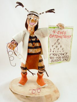 Navajo Bertha Wood Optometrist Koshare Kachina