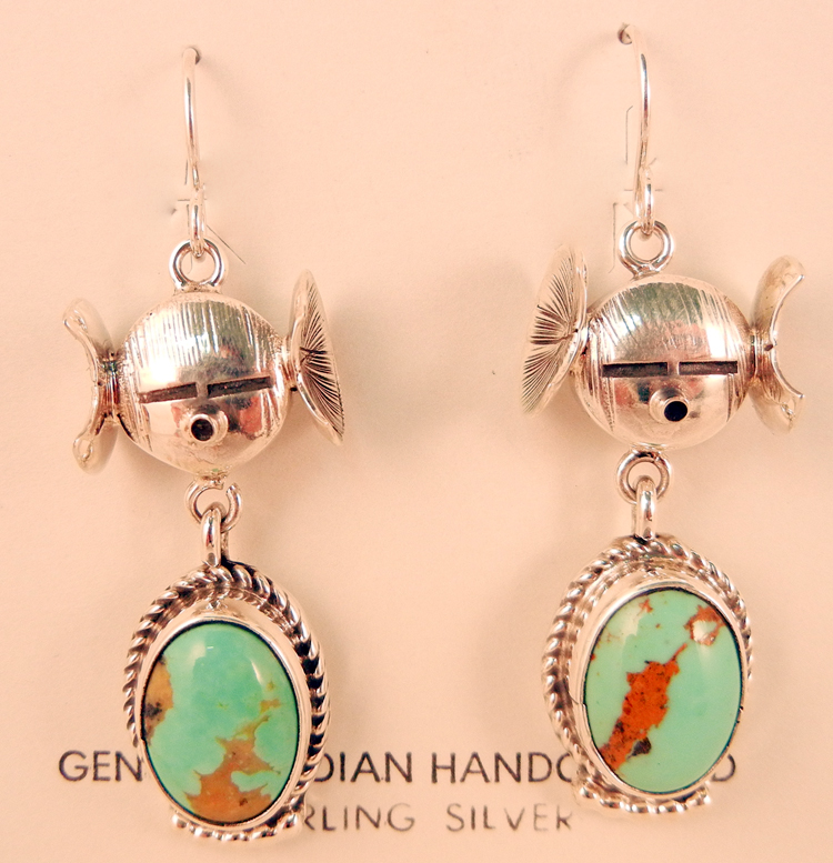 native-american-indian-jewelry-navajo-earrings-bennie-ration-turquoise-sterling-silver-maiden-dangles