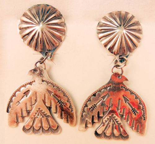 native-american-indian-jewelry-navajo-earrings-vince-platero-sterling-silver-thunderbirds