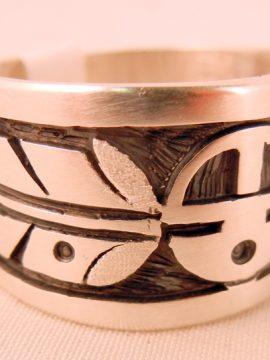 Navajo Sterling Silver Overlay Ring