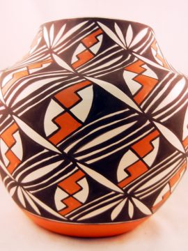 Acoma Manuel Stevens Hand Painted Polychrome Bowl
