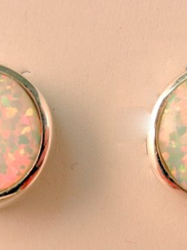 Navajo Lab Opal and Sterling Silver Earrings