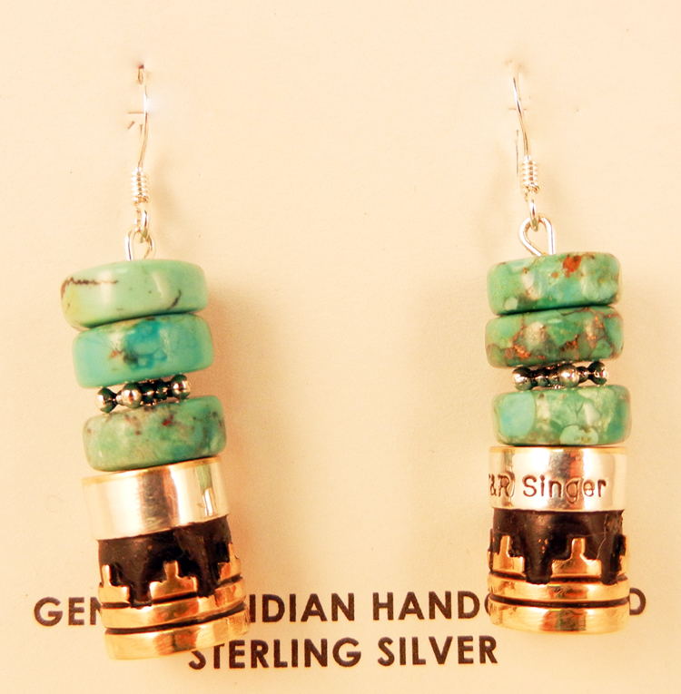 native-american-indian-jewelry-navajo-earrings-turquoise-sterling-silver-gold-fill-rosita-singer