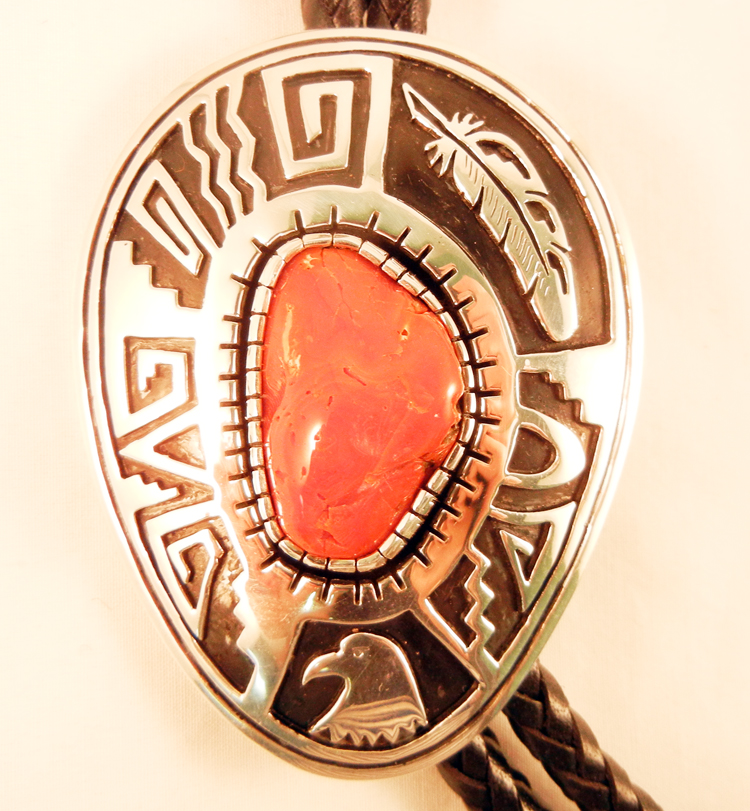 native-american-indian-jewelry-navajo-bolo-tie-coral-sterling-silver (2)