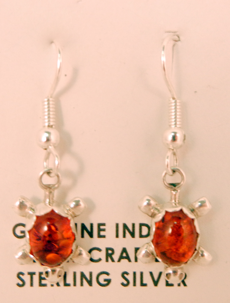 native-american-indian-jewelry-navajo-earrings-amber-sterling-silver-turtles