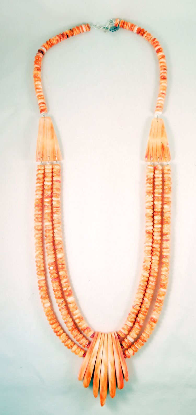 Santo Domingo Lupe Lovato Orange Spiny Oyster Shell Necklace