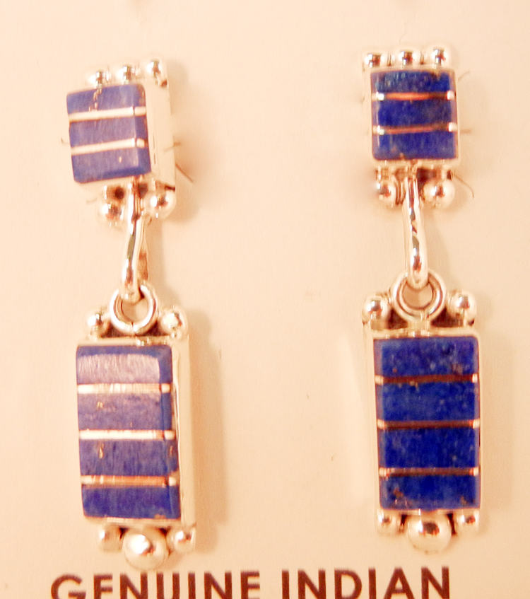 native-american-indian-jewelry-zuni-earrings-lapis-sterling-silver-inlay