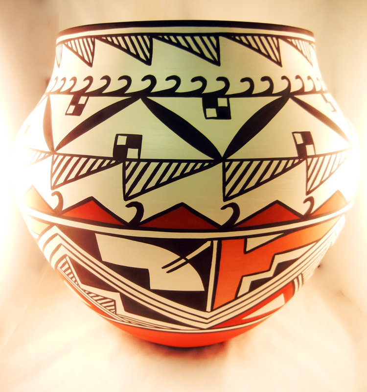 Acoma David Antonio Large Polychrome Jar