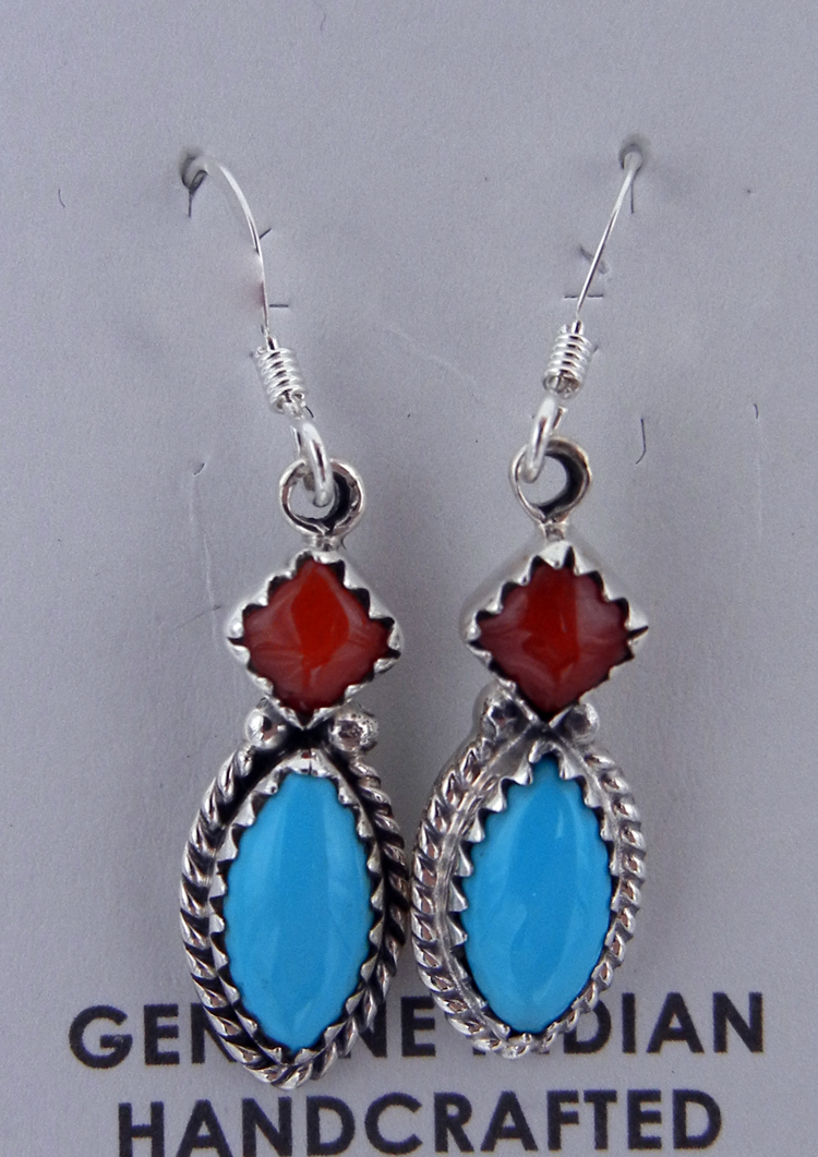 native-american-indian-jewelry-navajo-earrings-coral-turquoise-small