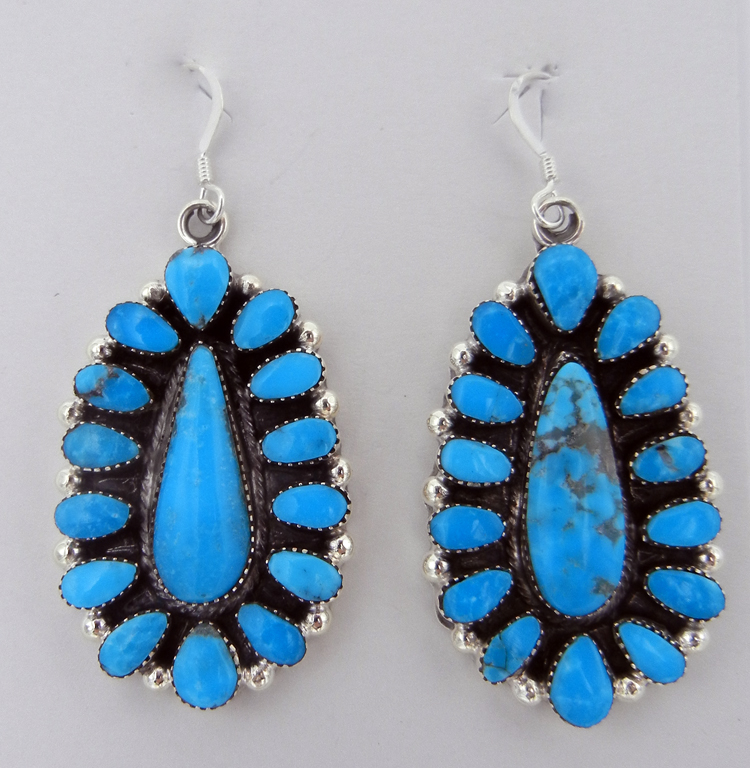 native-american-indian-jewelry-navajo-earrings-turquoise-rosette-sterling-silver