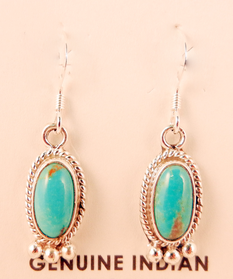 native-american-indian-jewelry-navajo-earrings-turquoise-sterling-silver-oval-dangle