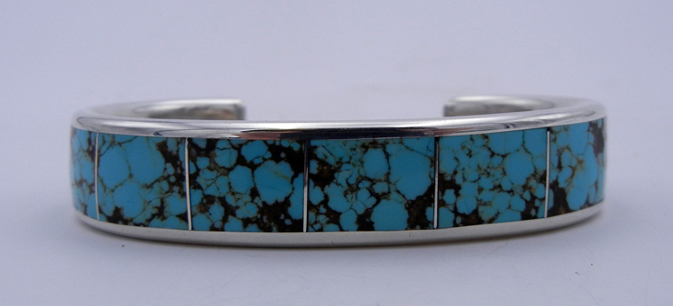 native-american-indian-jewelry-navajo-cuff-bracelet-turquoise-sterling-silver-inlay-larry-loretto (1)