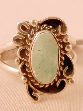 Navajo Juan Guerro Dry Creek Turquoise and Sterling Silver Ring