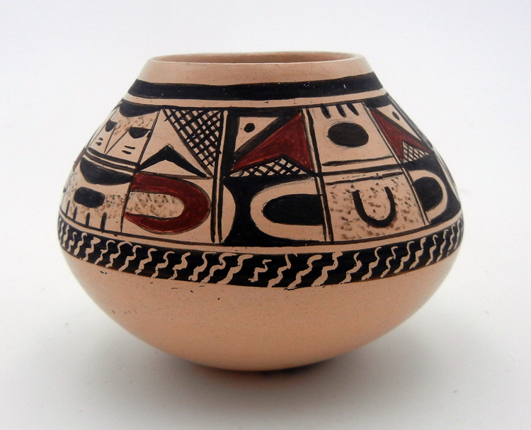 Hopi Carla Naha Nampeyo Small Painted and Polished Seed Pot