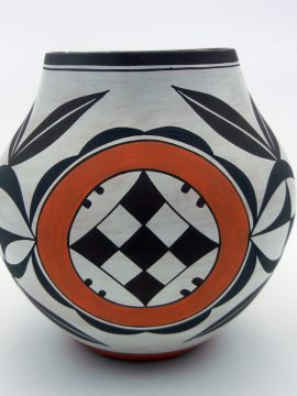 Laguna Myron Sarracino Old Pattern Outdoor Fired Polychrome Jar