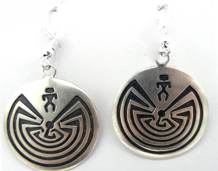 native-american-indian-jewelry-navajo-earrings-sterling-silver-overlay-man-in-the-maze