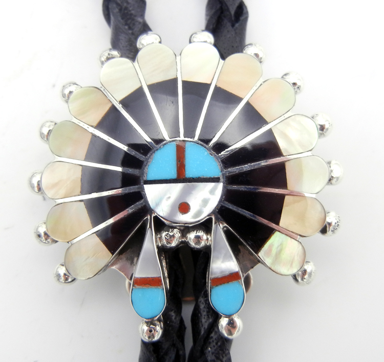 native-american-indian-jewelry-zuni-bolo-tie-multi-stone-inlay-sterling-silver-sunface (2)