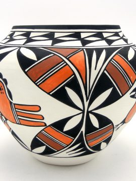 Acoma Beverly Garcia Polychrome Parrot Jar