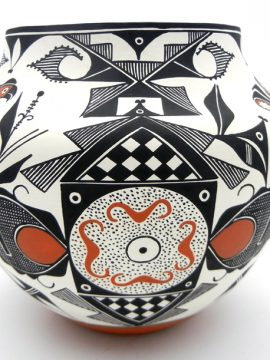 Acoma Franklin Peters Parrot and Fertility Pattern Jar