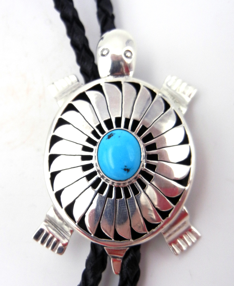 native-american-indian-jewelry-navajo-bolo-tie-bennie-ration-turquoise-sterling-silver-shadowbox-turtle (2)
