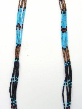 Santo Domingo Paul Tenorio Multi-Stone 5 Strand Heishi Necklace