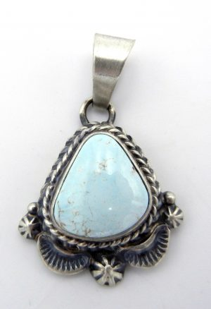 Navajo Dry Creek turquoise and sterling silver pendant