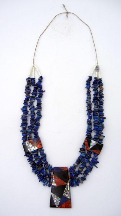 Santo Domingo multi-stone cleopatra necklace by Torevia Crespin